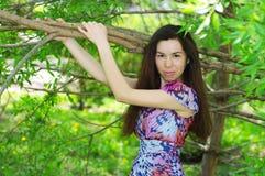 Beautiful girl. In a summer garden Royalty Free Stock Photos