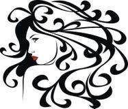 Beautiful girl. Illustrated beautiful girl isolated on white background Stock Image