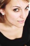 A beautiful girl. With fantastic eyes, look at the camera royalty free stock image