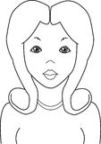 Beautiful Girl. Vector graphic illustration of a young beautiful girl Stock Photo