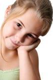 Beautiful Girl. Beautiful young girl with deep brown eyes stock photos