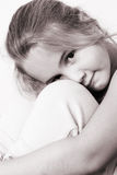 Beautiful Girl. Beautiful young girl with deep brown eyes royalty free stock images