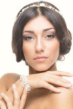 Beautiful girl with accessories Royalty Free Stock Images