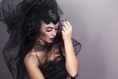 Beautiful girl with accessory Stock Photography