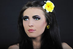 Beautiful girl with additional lash Royalty Free Stock Images