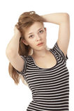 Beautiful girl at the age of fifteen close-up Royalty Free Stock Photography