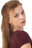Beautiful girl at the age of fifteen close-up Royalty Free Stock Images