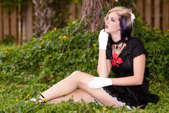 Beautiful girl with alternative style clothing Royalty Free Stock Photos