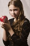 Beautiful girl with apple Stock Photo