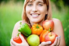 Beautiful girl with apples Royalty Free Stock Photography