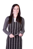 Beautiful Girl with an Apron Royalty Free Stock Photography