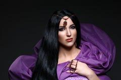 Beautiful girl with arabic makeup Royalty Free Stock Photo