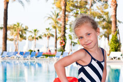 Beautiful Girl At The Swimming Pool Stock Photos