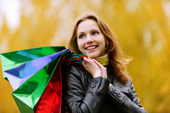 Beautiful girl in autumn Royalty Free Stock Photography