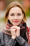 Beautiful girl in autumn Royalty Free Stock Images