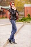 Beautiful girl in autumn Stock Image