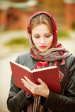 Beautiful girl in autumn Stock Photography