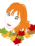 Beautiful girl autumn Royalty Free Stock Photography