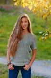 Beautiful girl in the Autumn fall Stock Image