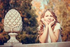 Beautiful girl in the autumn park Royalty Free Stock Image