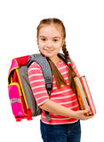 beautiful girl with a backpack Royalty Free Stock Photo
