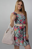 Beautiful girl with bag Stock Photo