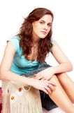 Beautiful girl with bags Royalty Free Stock Image