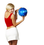 Beautiful girl with ball Royalty Free Stock Photography