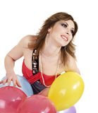 Beautiful girl with ballon. Royalty Free Stock Image