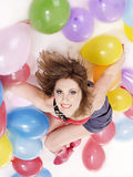 Beautiful girl with ballon. Stock Photo