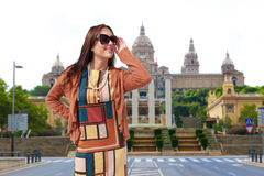 Beautiful Girl at Barcelona, Spain Royalty Free Stock Image