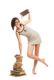 Beautiful girl with a book Stock Images