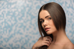 Beautiful girl in the bathroom Royalty Free Stock Photos