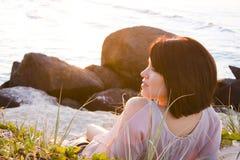 Beautiful girl at the beach Stock Photos