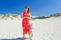 Beautiful girl on a beach. Stock Image