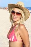 Beautiful girl on the beach. Beautiful girl in a bikini on the beach Royalty Free Stock Photo