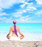 A beautiful girl on the beach Royalty Free Stock Images