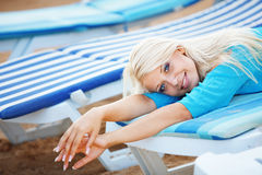 Beautiful girl at beach Royalty Free Stock Photography