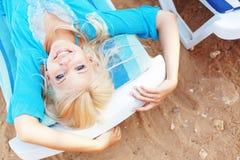 Beautiful girl at beach Royalty Free Stock Photography