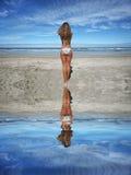 Beautiful girl in the beach Stock Photo