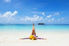 Beautiful girl on the  beach Stock Photo