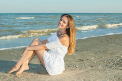 Beautiful Girl  on The Beach Royalty Free Stock Image