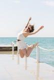 Beautiful girl at the beach Royalty Free Stock Image
