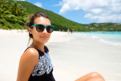 Beautiful girl at the beach Stock Photo