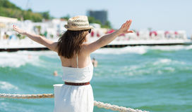Beautiful girl at the beach Stock Photography