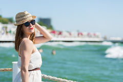 Beautiful girl at the beach Royalty Free Stock Images