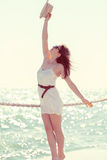 Beautiful girl at the beach Royalty Free Stock Photography