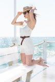 Beautiful girl at the beach Stock Image