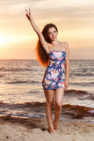 Beautiful girl on the beach Royalty Free Stock Photos