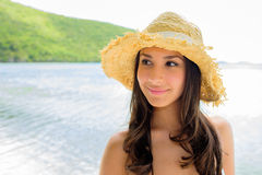 Beautiful girl at the beach Stock Images